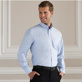 Men's Long Sleeve Easy Care Oxford Shirt Russell