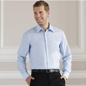 Men's Long Sleeve Easy Care Tailored Oxford Shirt Russell