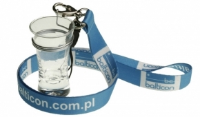 Lanyard with glass