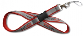 Double layered lanyard with detachable buckle